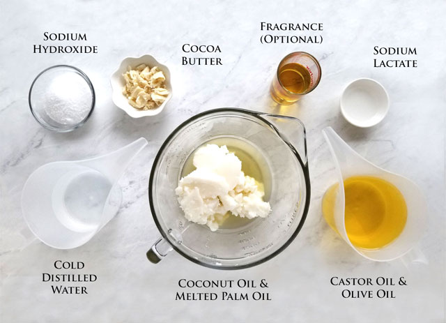 Basic Cold Process Soap Recipe Ingredients