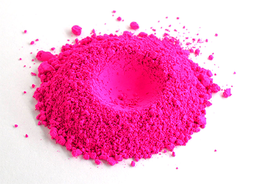 The Fuchsia is Bright Neon Pigment